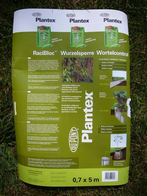 barriere anti rhizomes bambous racibloc plantex dupont