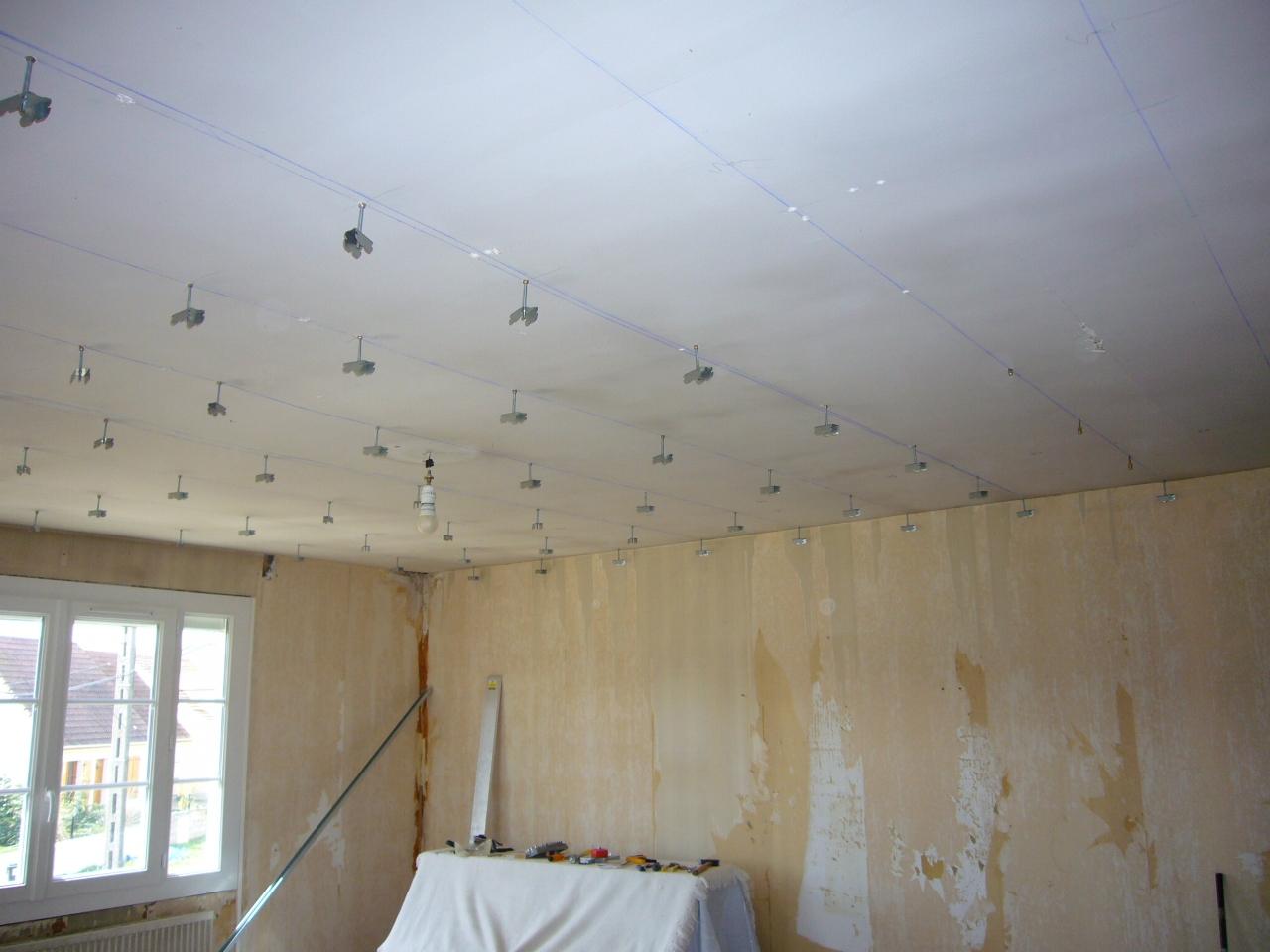 R novation d 39 une maison en seine et marne octobre 2009 - Faux plafond tige filetee ...