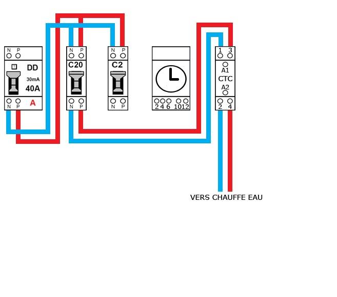 Schema contacteur chauffe eau debflex - Contacteur chauffe eau ...