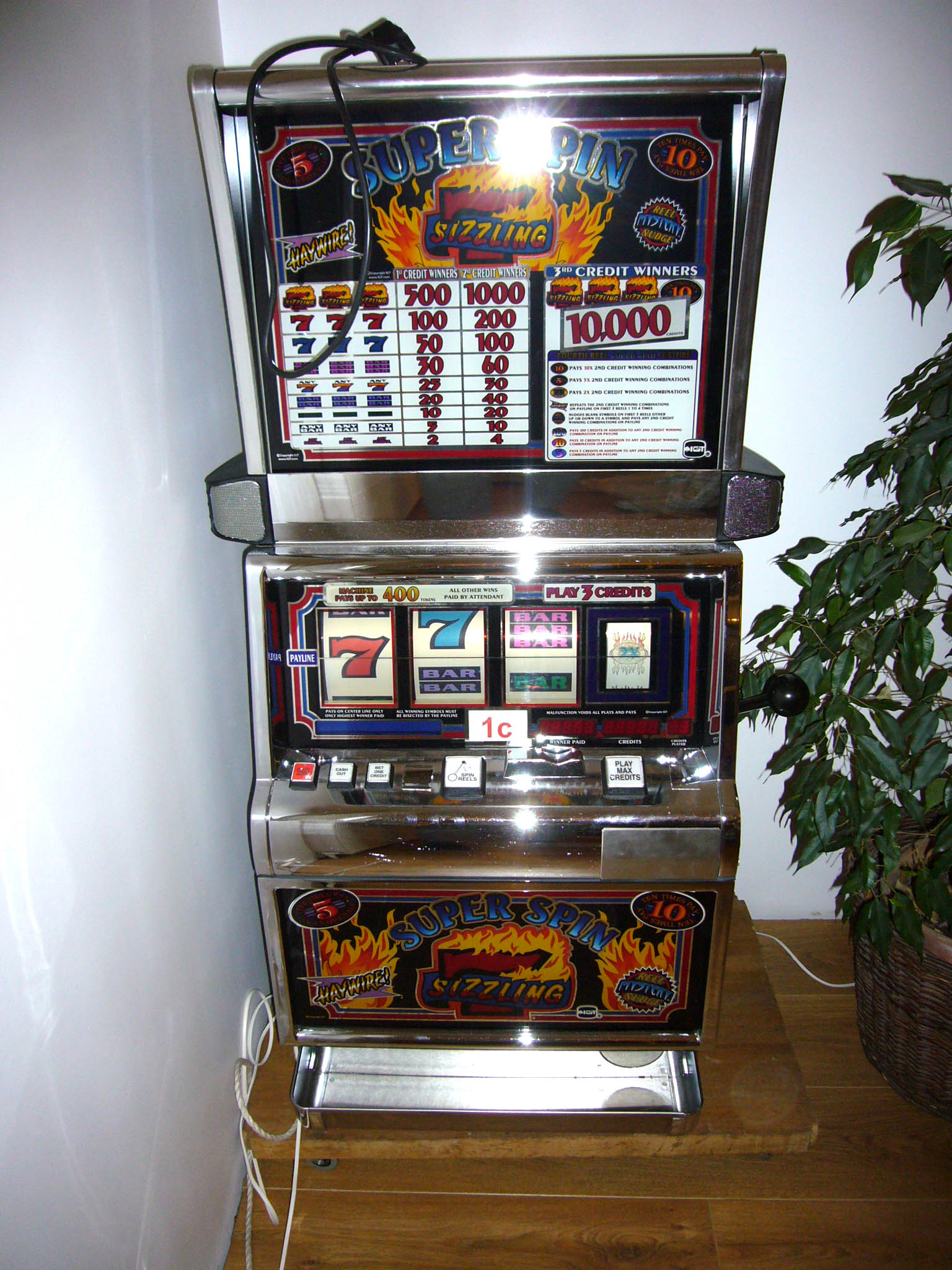 super spin sizzling 7 slot machine