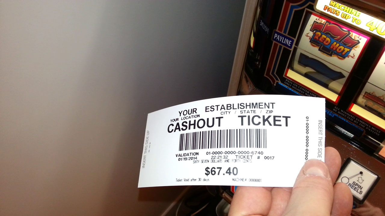 Paper tickets slot machines harrahs gambling age