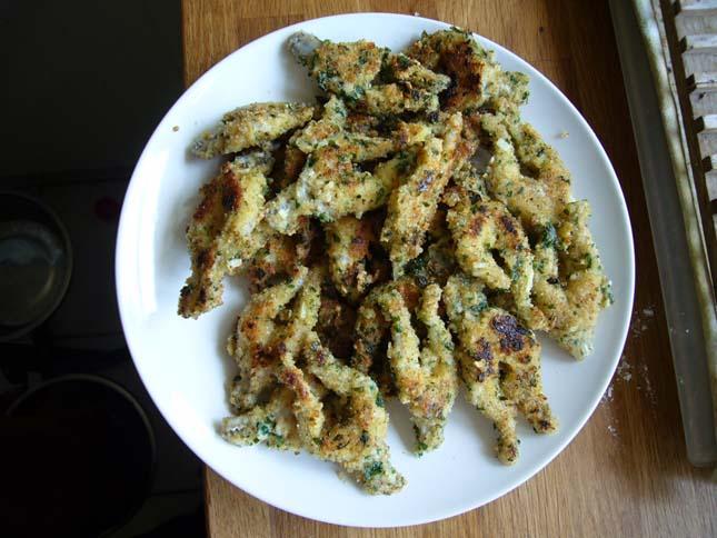 cuisses de grenouilles panées à l'ail