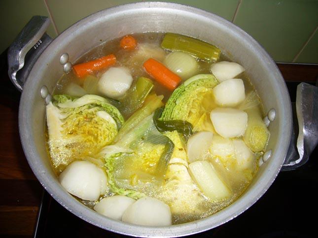 jarret de porc aux 5 légumes
